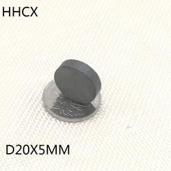 5 шт./лот Y30 диск ферритовый магнит 20*5 постоянный магнит 20 мм x 5 мм черный круглый Динамик 20x5 мм