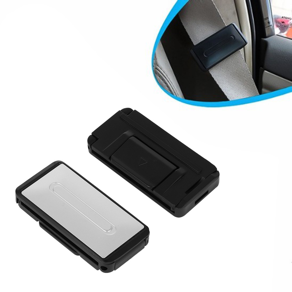2 Pcs Auto Universal Adjustment Lock Improves Comfort Socket Seatbelt Stopper Belt Safety Adjuster Clip Clamp Buckle Car Seat