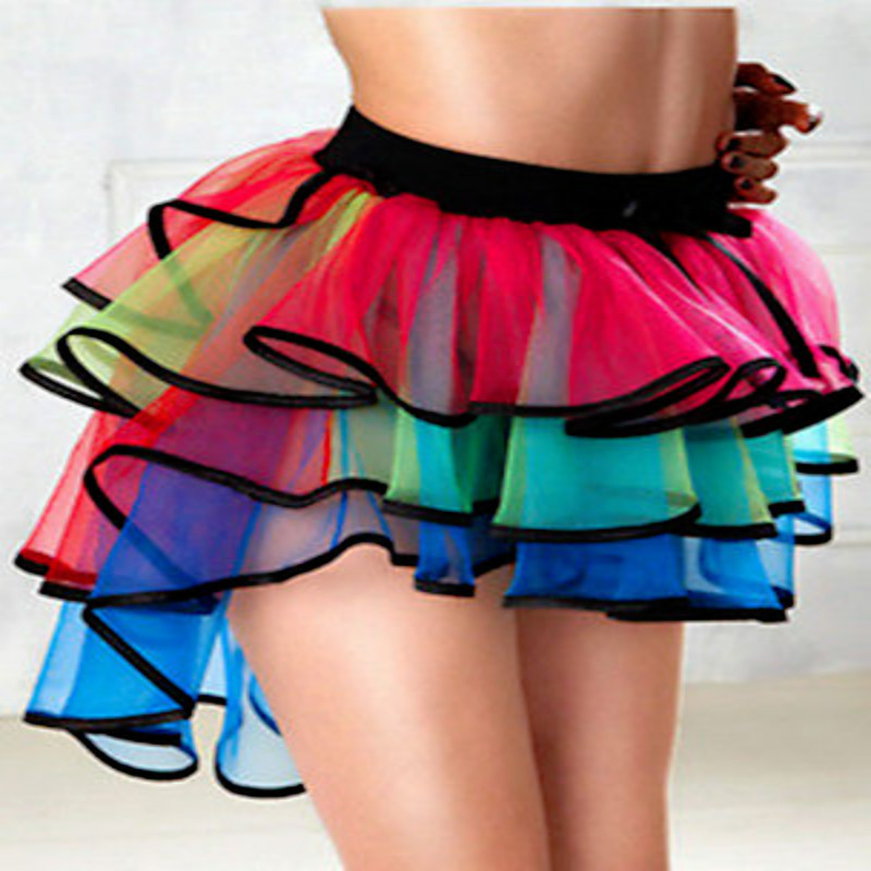 New Hot Sexy Women's Costume Ball Party Petticoat Tutu Long Skirt Underskirt Fancy Skirt