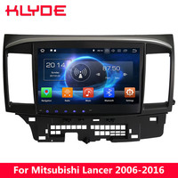 KLYDE Android 8 7 Octa Core 4 ГБ Оперативная память dvd плеер автомобиля для Mitsubishi Lancer 2006 2007 2008 2009 2010 2011 2012 2013 2014 2015 2016