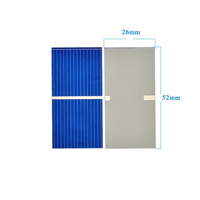 AIYIMA 100Pc Solar Panel Sun Cell Sunpower Solar Cell Polycrystalline Photovoltaic DIY Solar Battery Charger 0.5V 0.225W 52*26mm