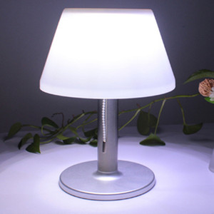 Настольная лампа на солнечных батареях для дома из нержавеющей стали водонепроницаемый садовый свет/Солнечная зарядка Светодиодная лампа ...
