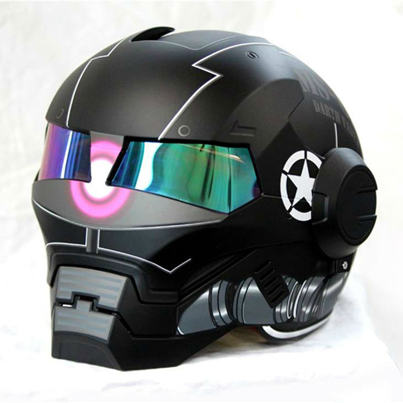 2015 NEW Black MASEI Motorcycle Helmet IRONMAN Iron Man Helmet Half Helmet Open Face Helmet Casque