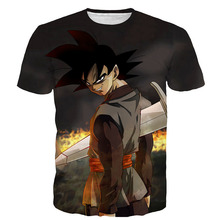 Men's Summer T-shirts Dragon Ball Z 3D Printing Super Saiyan Son Goku Black Zamasu Vegeta Battle Dragonball T Shirt Tops Tee