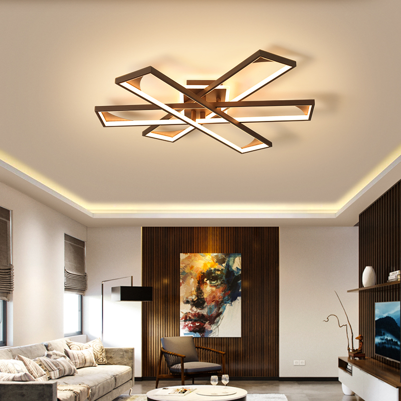 LED Chandelier For Living Room Bedroom Dimmable White Coffee Painted New Indoor Modern Lamp Fixtures Lustre Lampadario AC85-260VLED Chandelier For Living Room Bedroom Dimmable White Coffee Painted New Indoor Modern Lamp Fixtures Lustre Lampadario AC85-260V