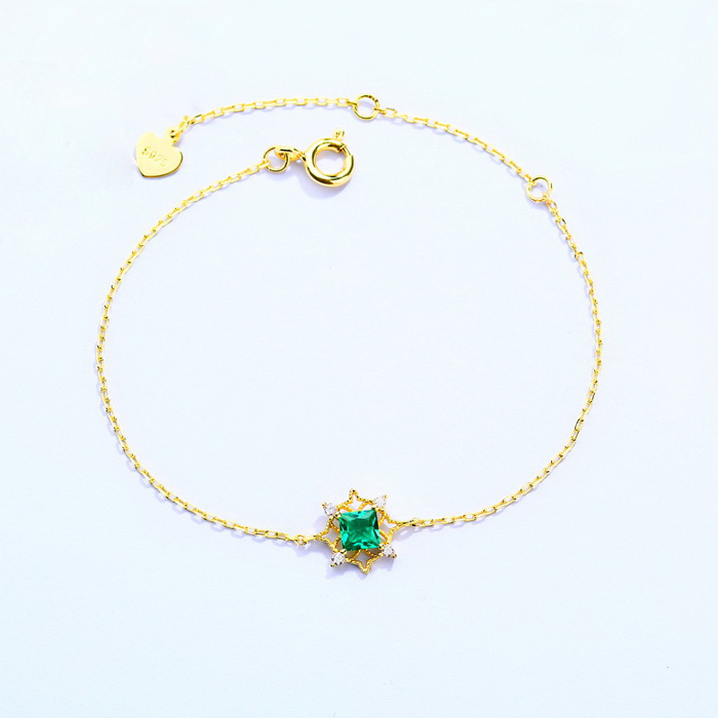 2018 New arrive fashion Titanium steel bracelet&bangle for woman jewelry gold colorful Cz gift B14