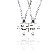 2019 New Puzzle Best Friends Necklace For Women Girls Simple Silver Vintage Necklaces Choker Friendship Forever Bff Jewelry Gift(China)