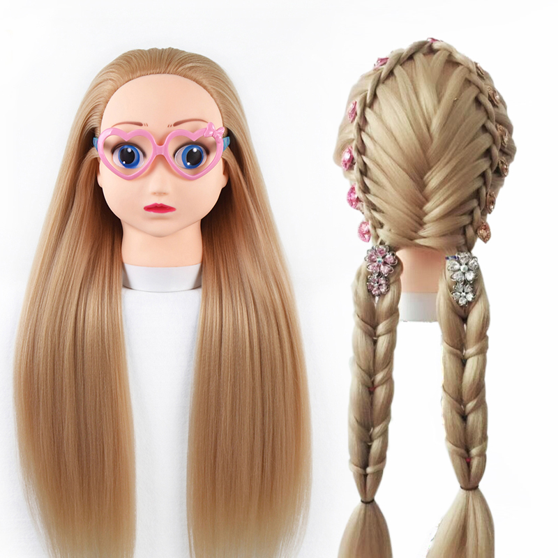 Qoxi Professional cartoon training heads with long thick hairs practice Hairdressing mannequin dolls Styling maniqui for saleQoxi Professional cartoon training heads with long thick hairs practice Hairdressing mannequin dolls Styling maniqui for sale