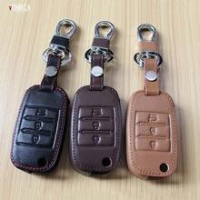 Верхний слой leathe случае ключ мешок Клавиша Крышка для Kia Ceed Sorento CERATO K3 k3s K4 K5 kx3 Sportage kx5 3 кнопки дистанционного управления