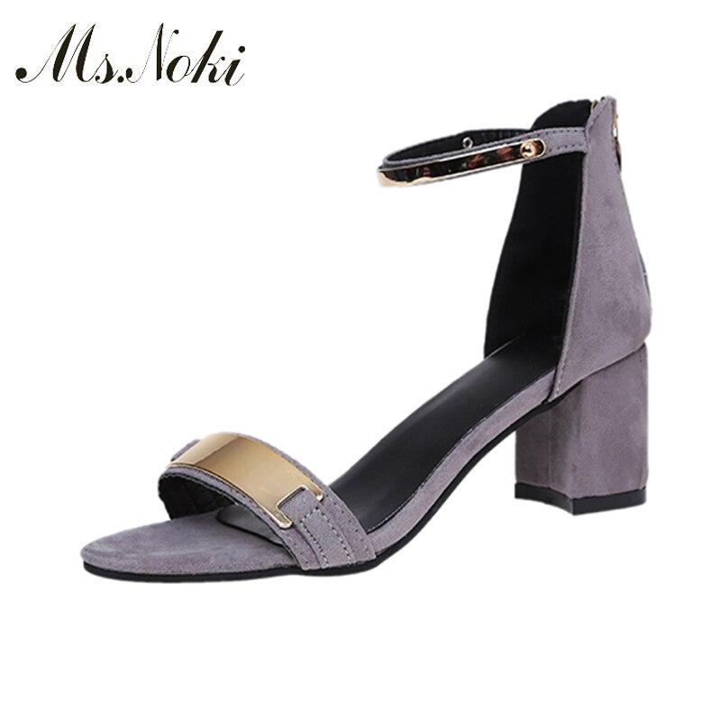 Ms. Noki Metal decoration Narrow Band sandal good quality women shoes Summer 2017 fashion buckle strap shoes leisure for girls карманные часы boegli m 30