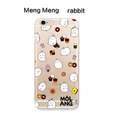 Applicable to iphone6 7 8 X XR XMAX mobile phone shell painted TPU transparent soft cartoon cute free child drop