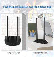 5.8GHz Usb Wi fi adapter 1300mbps 802.11ac long distance PC wifi receiver 2*6dBi antennas Dual Band USB 3.0 Ethernet Adapter