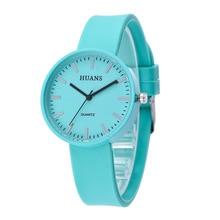Dames Eenvoudige Horloges 2018 Mode Casual Siliconen Jelly Quartz Horloge Meisjeshorloge Elegant horloge Relogio Feminino