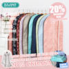 Sivin One Set Of 3 Pieces Garment Bag Covers Storage Fabric With See Through Window For
