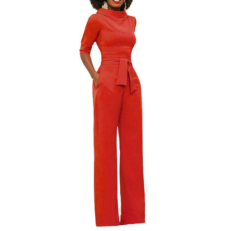 Rompers Bodysuite Full Length Solid Fashion Jumpsuit Multicolor Plus Size Bodysuit Women Loose Wide Leg Pants gyzym8189