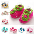 Brand baby shoes Handmade ,baby knitted Shoes Girls crochet,Sapatos Infantis Meninas,Flower Baby Slippers Shoe,Non Slip,
