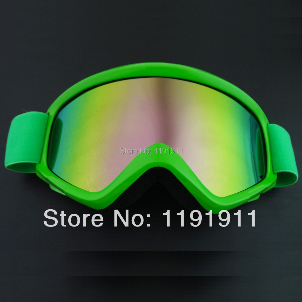 GREEN DIRT BIKE ATV MOTORCYCLE GOGGLE MOTOCROSS M GOGGLE-GREEN