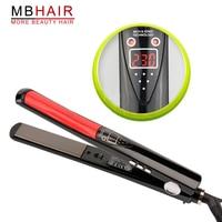 High Quality Professional Nano Titanium Ceramic Hair Straightener Iron Adjust Temperature Wet And Dry Freeshipping
