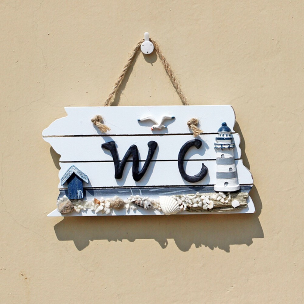 Mediterranean Style Hanging Plate Bathroom Sign Board In Plaques U0026 Signs  From Home U0026 Garden On Aliexpress.com   Alibaba Group