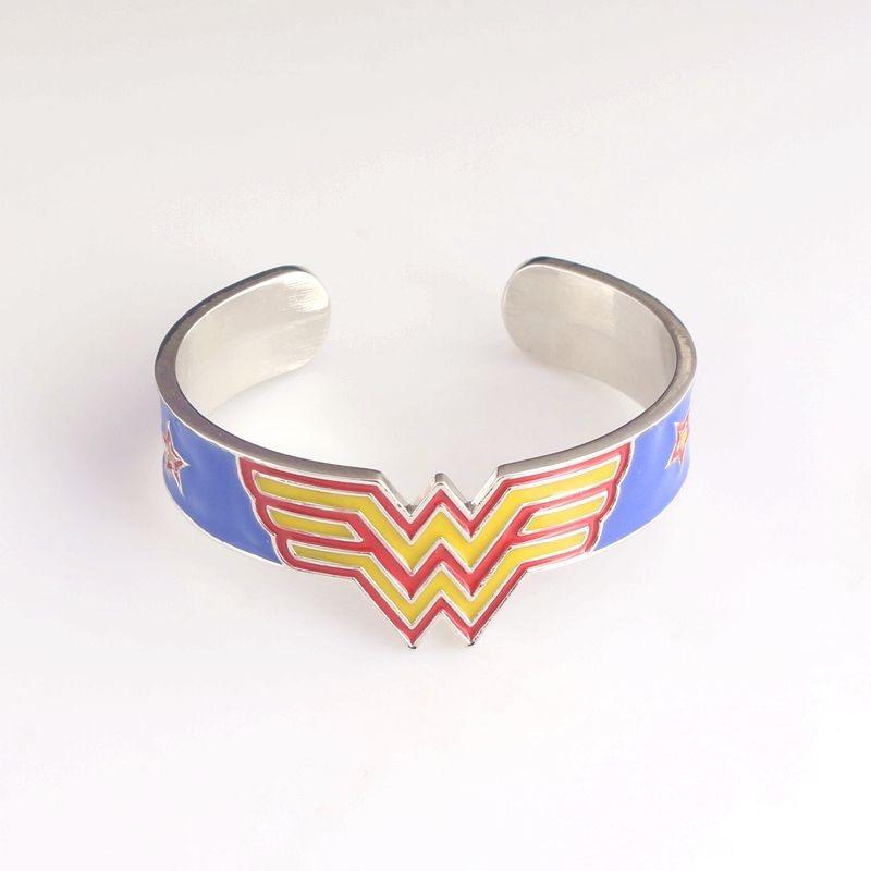 Popular Movie Wonder Woman Bracelet & Bangle High Quality Colorful Enamel Superhero Pulseiras Feminina Fashion Metal Bangle