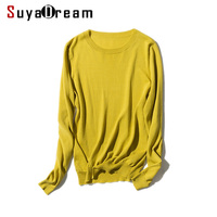 Woman Pullovers Solid Bottoming Shirt O Neck Thin Sweaters 2017 FALL Winter Candy Colors Tencel And