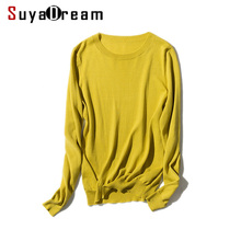 Woman Pullovers Solid Bottoming shirt O neck Thin sweaters 2017 FALL Winter Candy colors Tencel and Cotton Knit shirt