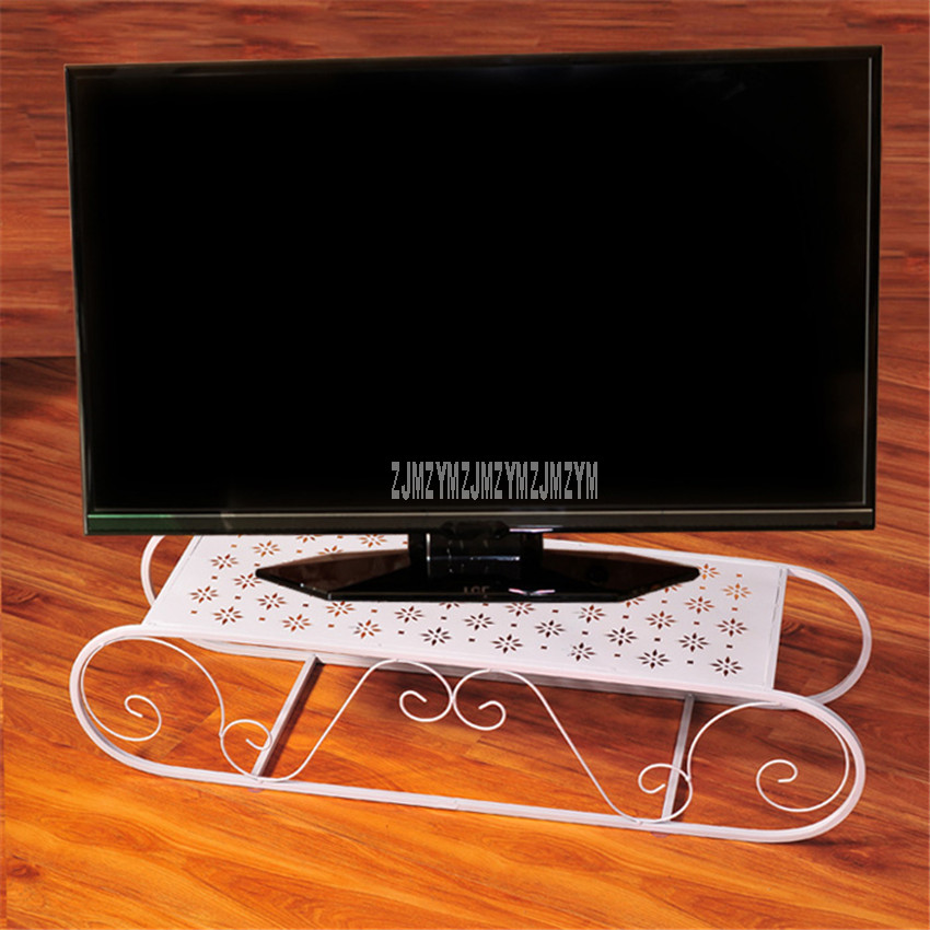 Style européen universel bureau LED LCD Support de TV Base fer Art métal plus fort bureau table TV Support de Base 100*30*20 cm