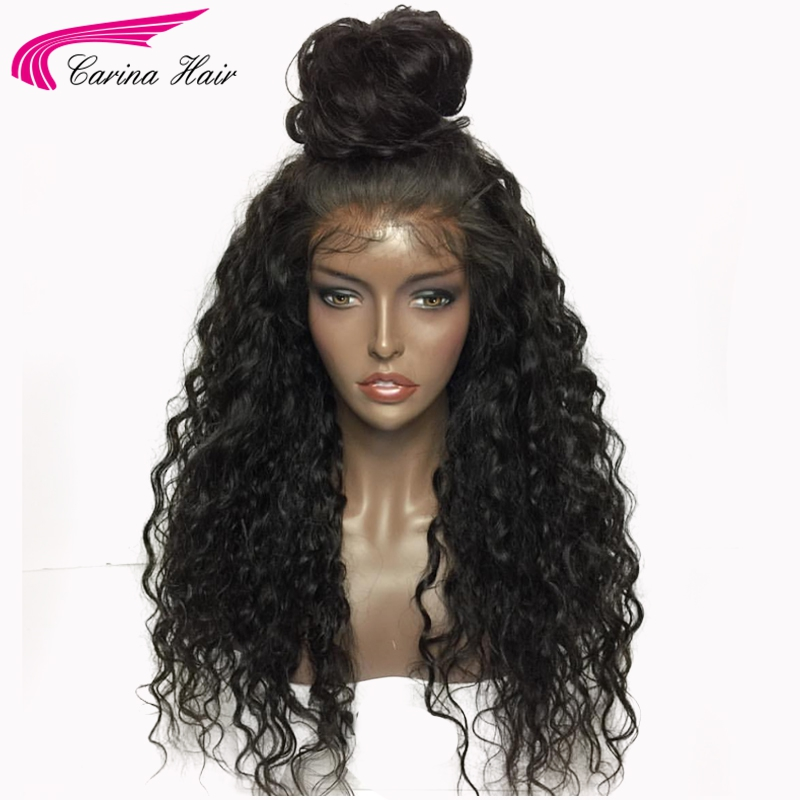Carina Glueless Wigs Kinky Curly Full lace Hair Wigs With Baby Hair 150 Brazilian Remy Human