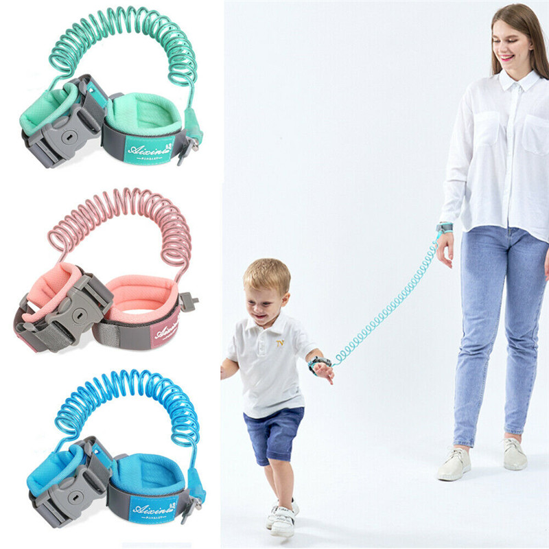 Toddler Baby Kids Harness Leash Anti Lost Wrist Walking Leash Link Traction Rope