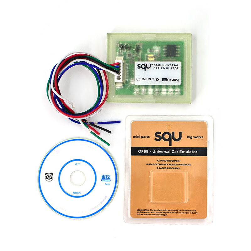 Top quality SQU OF68 Universal Car Emulator SQU OF 68 Signal Reset Immo Programs Place ESL Diagnostic Seat Occupancy Sensor Tool