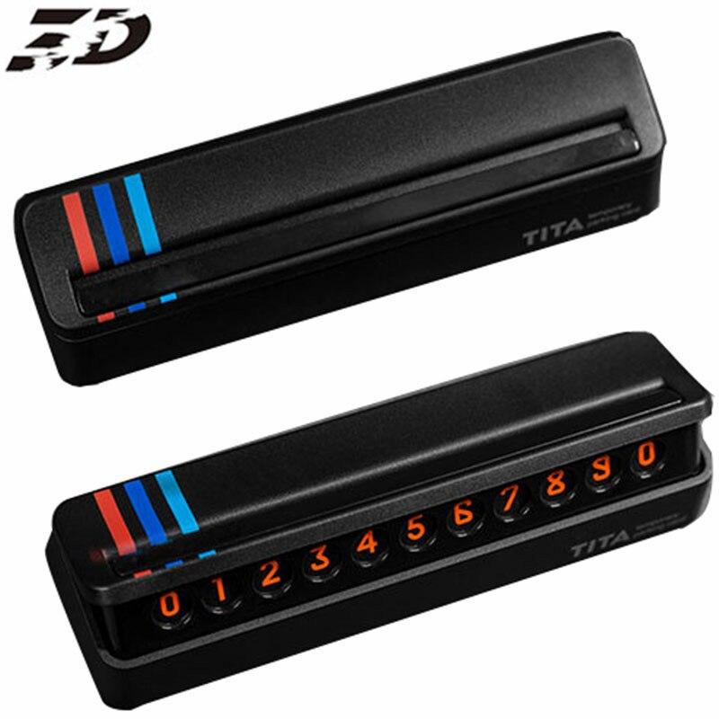 Autocollant de voiture De Voiture Carte de Stationnement Temporaire Pour BMW E39 E90 E60 E36 X5 E53 F30 F10 E34 E30 F20 Fluorescent numéro de téléphone Carte