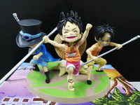 90mm Japanese Anime One Piece Figure PVC Sabo Ace Luffy Childhood One Piece Action Figures