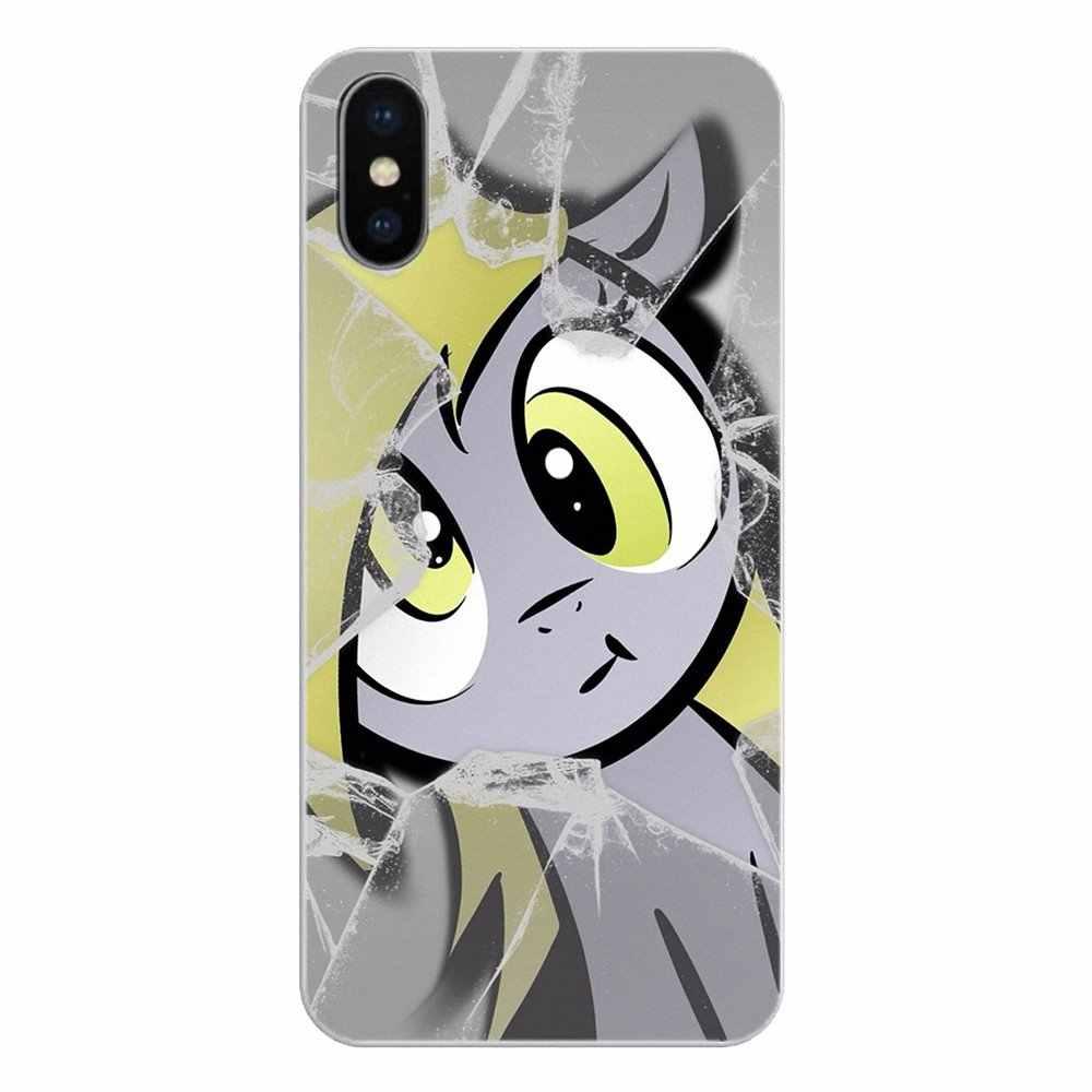 Для iPhone XS Max XR X 4 4S 5 5S 5C SE 6 6 S 7 8 плюс samsung Galaxy J1 J3 J5 J7 A3 A5 крышка мультфильм «Мой маленький пони» дерпи копыта