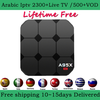A95X Android 7 1 arabic iptv box 2900+Channels lifetime free French