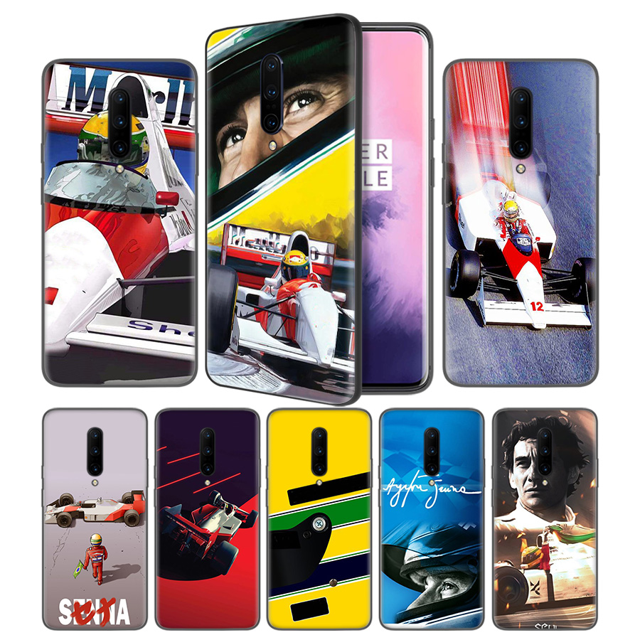 Ayrton Senna Soft Black Silicone Case Cover for font b OnePlus b font 6 6T font