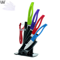 New Arrival Ceramic Peeler 4pcs Ceramic Knives Kitchen Knife Stand High Grade Cooking Tools ABS TPR