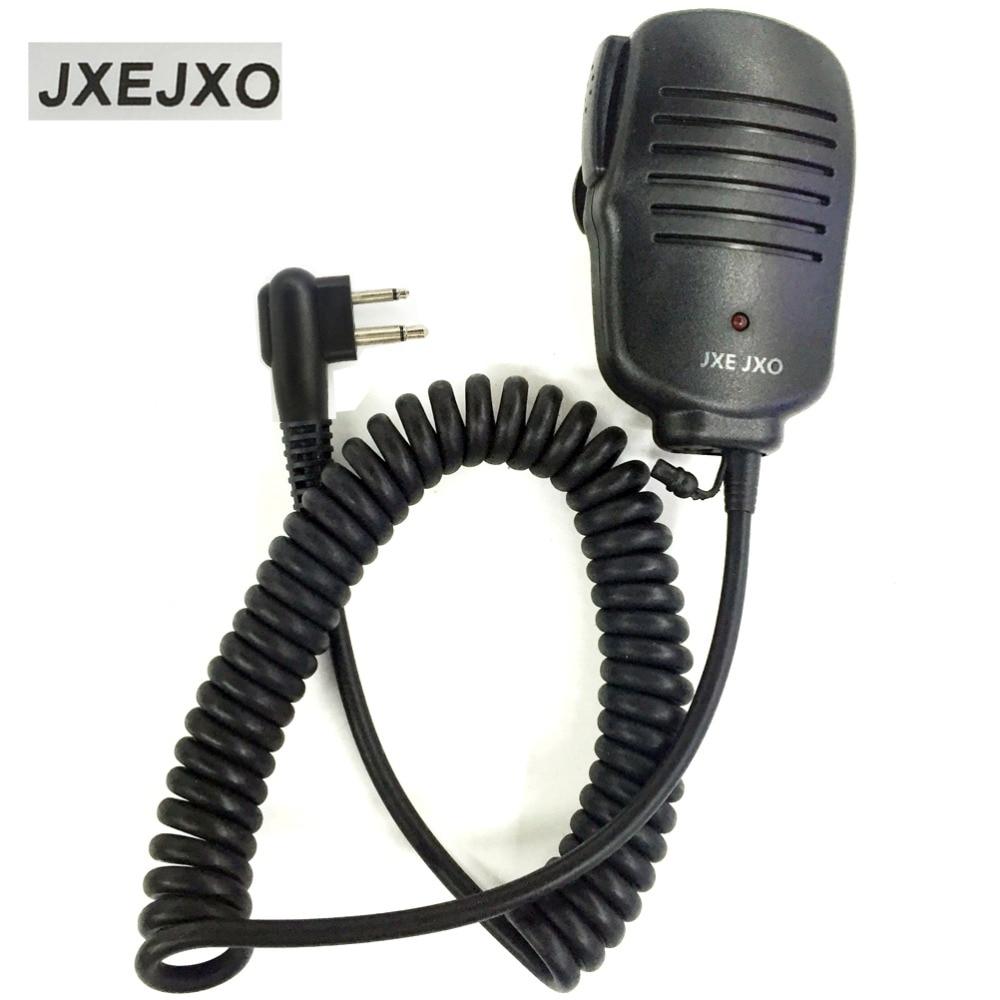 bilder für JXEJXO Neue 2 PIN Handheld mikrofon Mit LED-Licht für Motorola Funkgeräte für GP88 GP300 GP2000 P040 PRO1150 Schwarz
