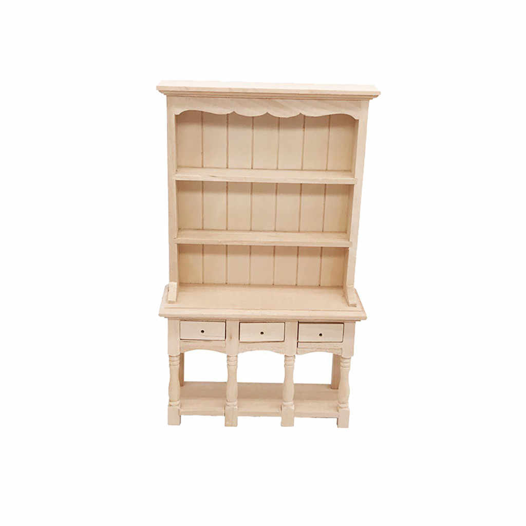 House Miniature Furniture Accessory 1/12 Mini Dollhouse Bookcase Furniture Cabinet Miniature Living Room Kids Toy L419