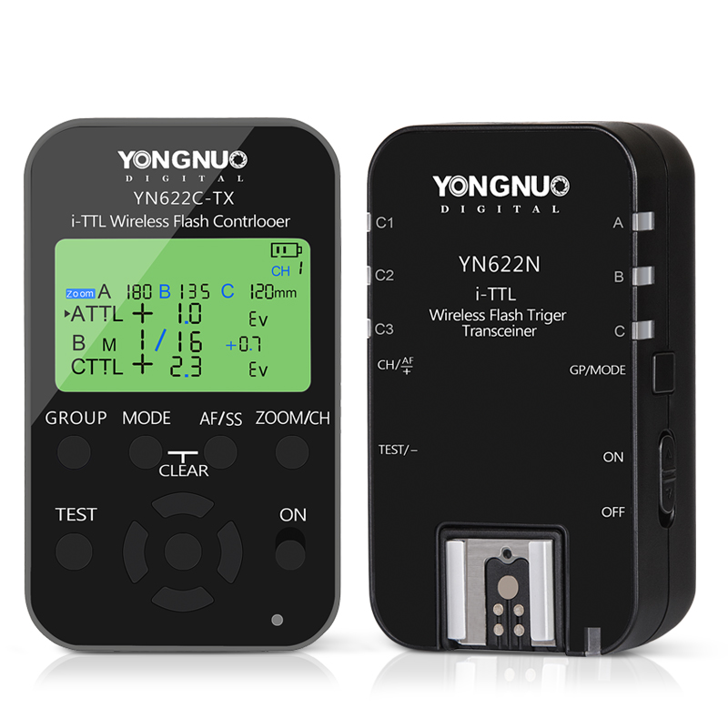 Yongnuo-Wireless-Flash-Trigger-Kit-YN622N-KIT-Transmitter-Controller-YN622N-TX-i-TTL-Transceiver-Receiver-YN622N