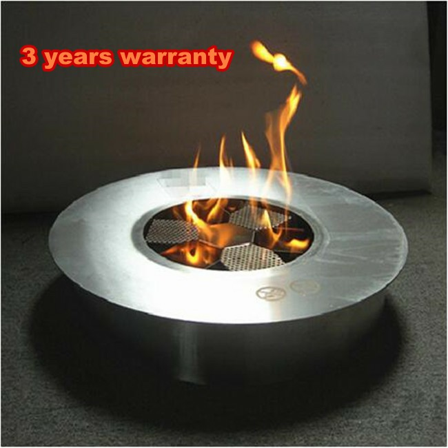 8 Liters Stainless Steel Manual Round Fireplaces Indoor