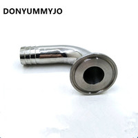DONYUMMYJO 1 5 Tri Clamp X 19mm OD Hose Barb With 90 Bend Sanitary Pipe Fittings