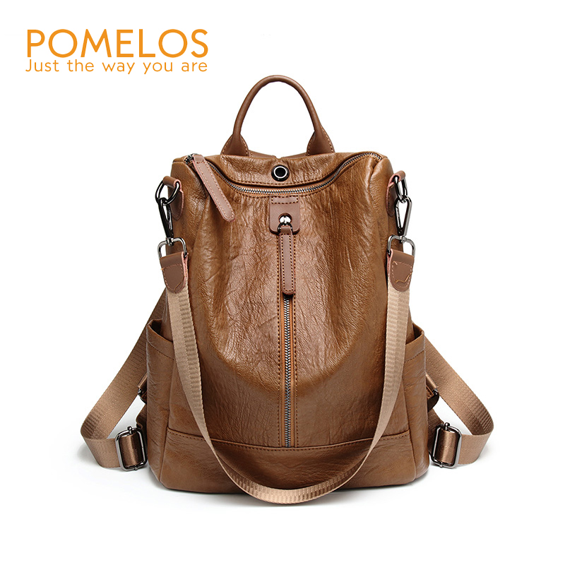 POMELOS Backpack Women 2018 New Fashion PU Leather Backpack Female Back Pack Rucksack Bagpack School Backpacks For Teenage Girls women s leather backpack mini tassel backpack women pu back pack backpacks for teenage girls rucksack small travel bag txy519