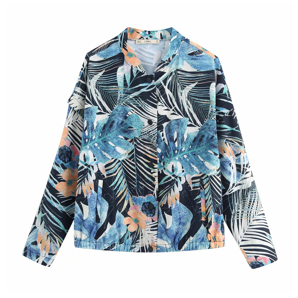 Womens Loose Print   Basic     Jackets   Coats 2019 Spring Summer Long Sleeve Flower Single Breasted Female New   Jackets   Outerwear