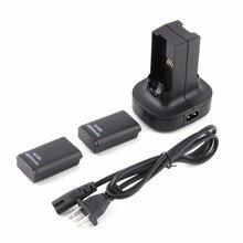 Для джойстика Xbox360 с двойным зарядным устройством, базовая зарядная станция, док станция 2, аккумуляторная батарея 4800 мАч для контроллера xbox 360, геймпад