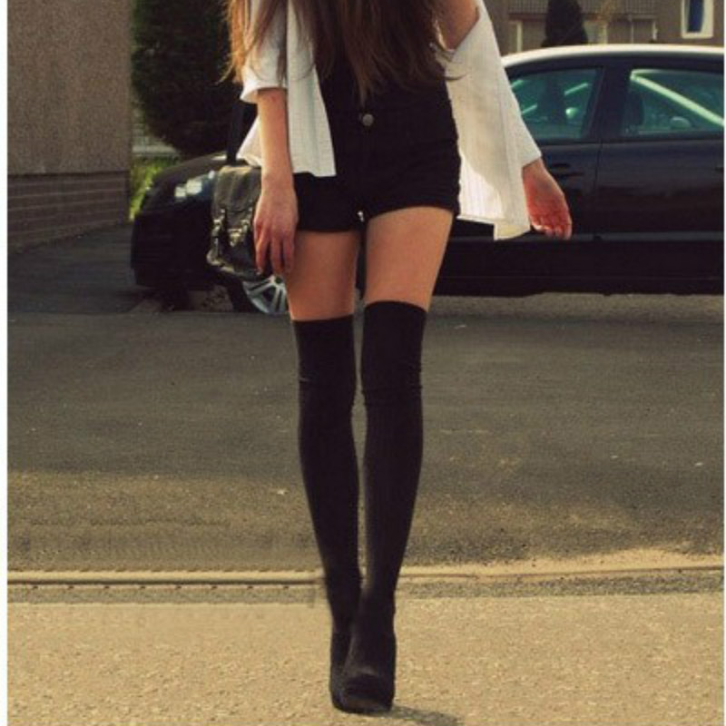 Spring Summer Fashion Women Solid Color Tights Harajuku Style Pantyhose