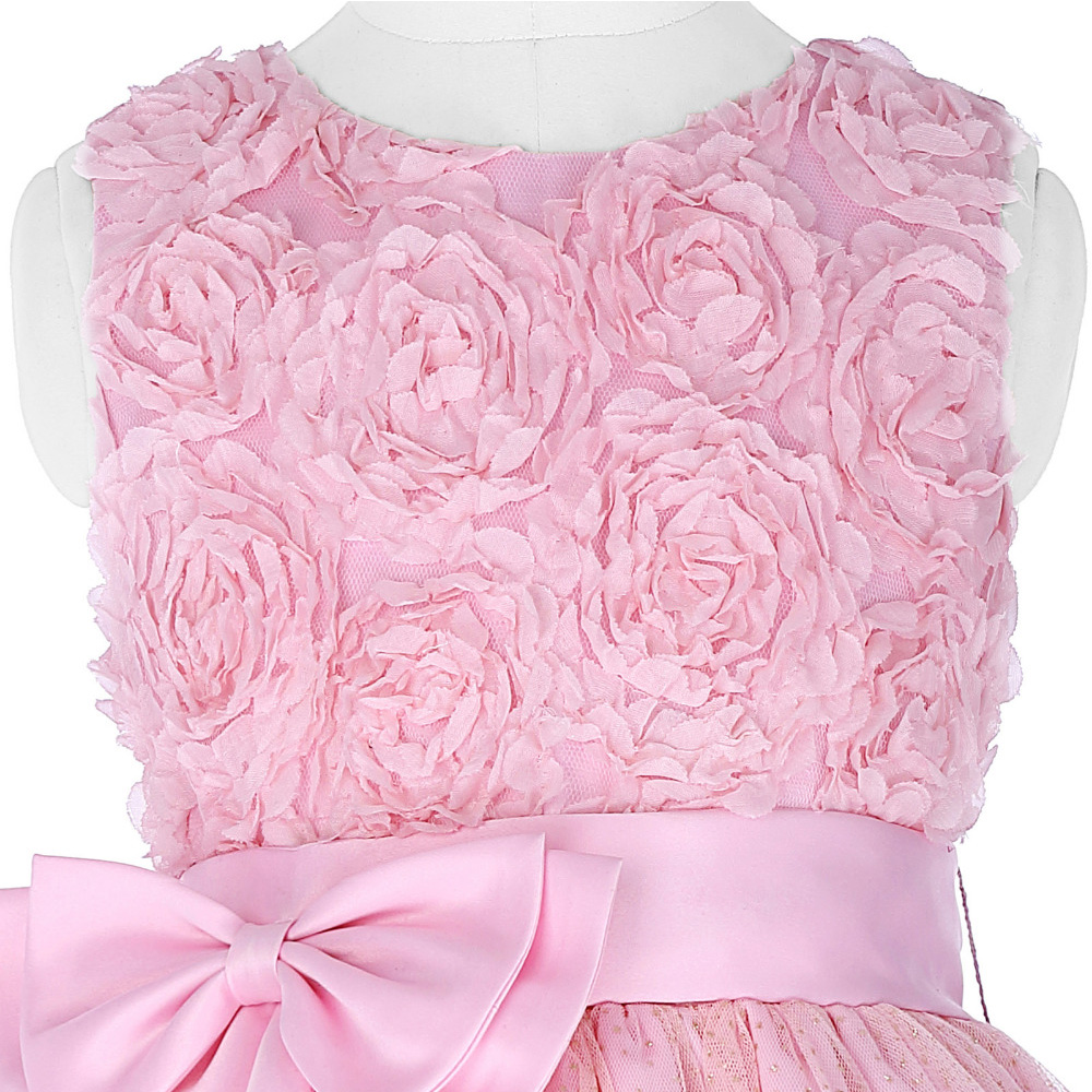Cheap Pink Flower Girl Dresses Baby Pageant Birthday Party Dress