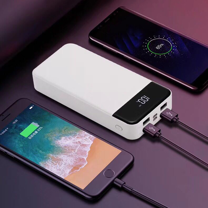 20000mAh High Capacity Power Bank <font><b>4</b></font> Output USB Ports LED Light External Battery <font><b>PowerBank</b></font> For Samsung iPhone Xiaomi Phone Power image