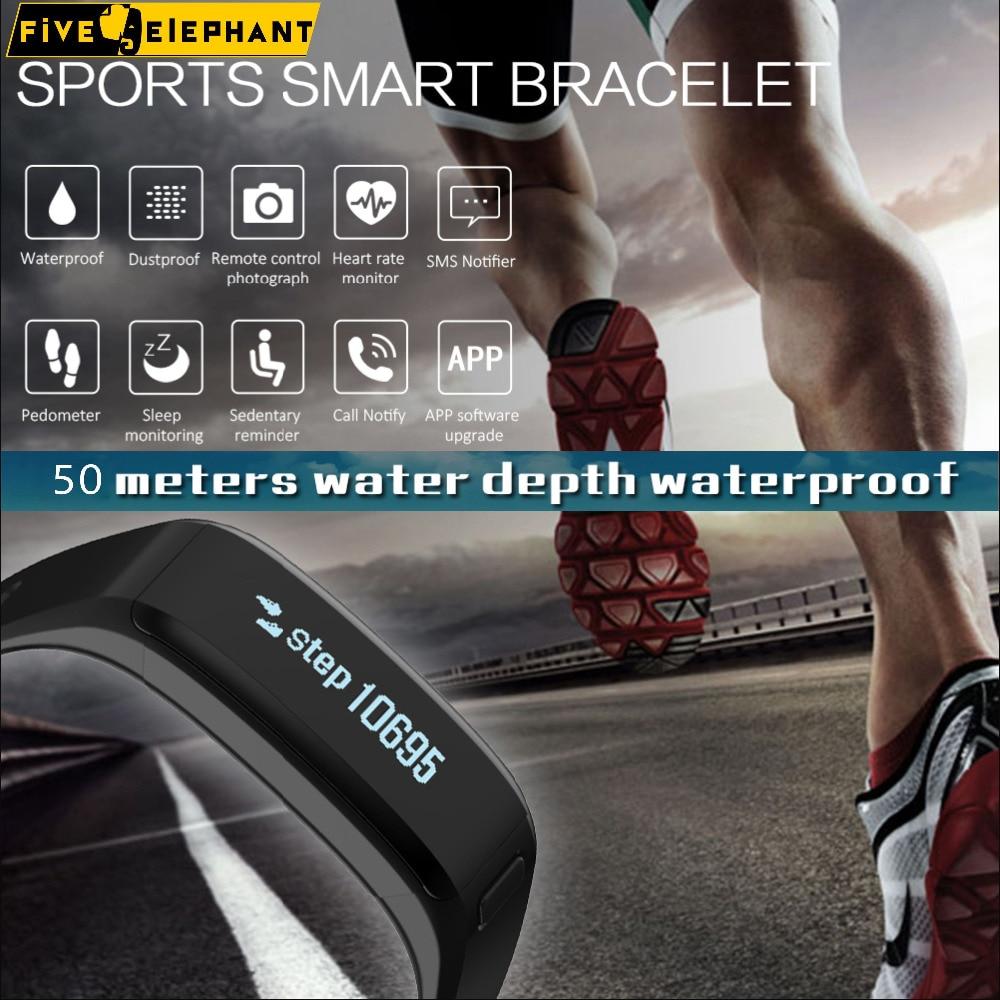 imágenes para Fuerte pulsera Inteligente de Carga de 1 horas, en espera de 100 días, para correr, a prueba de agua 50 metros, del ritmo cardíaco deporte salud smart watch