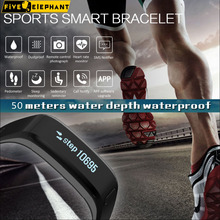 Strong Smart wristband Charge 1 hour,standby 100days, for Running,Waterproof 50 meters,Heart rate sport health smart watch