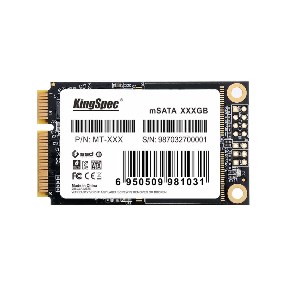 KingSpec MT-128 מיני PCIE mSATA SATA III 6 GB/S SSD 120 GB 128 GB קשיח כונן דיסק עבור Dell M6500 עבור Lenovo Y560